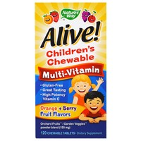 Nature's Way - Alive! Children's Multi-Vitamin, 120 Chewable Tablets
