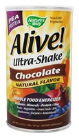 Nature's Way - Alive! Ultra-Shake, Pea Protein, Chocolate, 21 oz (597 g)