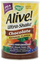 Alive! Ultra Shake Pea Protein Shake Chocolate Flavor 2.2 LB Powder