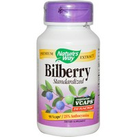 Nature's Way - Bilberry, Standardized, 90 Vcaps