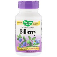 Nature's Way - Bilberry, Standardized, 90 Capsules
