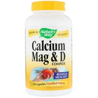 Nature's Way, Calcium Mag and  D Complex, 250 Capsules
