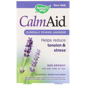 Nature's Way - Calm Aid, Clinically Proven Lavender, 30 Softgels