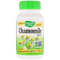 Nature's Way - Chamomile Flowers, 350 mg, 100 Capsules