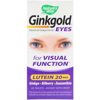 Nature's Way, Ginkgold Eyes, 60 Tablets