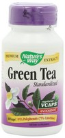 Nature's Way, Green Tea, Standardized, 60 Vcaps
