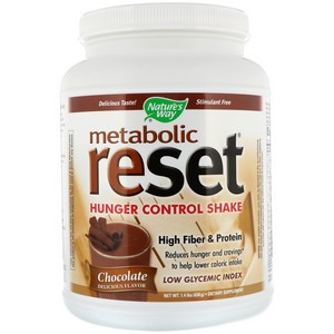 Nature's Way - Metabolic Reset, Hunger Control, Weight Loss Shake, Powder, Chocolate, 1.4 lbs (630 g)