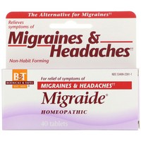 Boericke and  Tafel, Migraide, Maximum Strength Formula, 40 Tablets