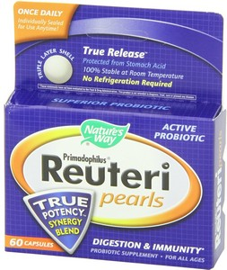 Nature's Way - Primadophilus Reuteri Pearls, 60 Capsules
