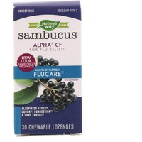 Nature's Way - Sambucus FluCare, Multi-Symptom Flu Relief, Elderberry Lozenges, 30 Chewable Lozenges