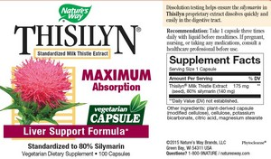 Nature's Way - Thisilyn, Liver Support Formula, 100 Capsules