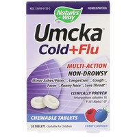 Nature's Way - Umcka, Cold + Flu, Berry Flavor, 20 Chewable Tablets