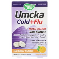Nature's Way - Umcka, Cold+Flu, Orange Flavor, 20 Chewable Tablets