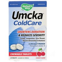 Nature's Way - Umcka ColdCare Chewable Tablets, Cherry Flavor, 20 Tablets