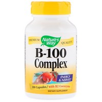 Nature's Way - B-100 Complex, With B2 Coenzyme, 100 Capsules