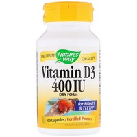 Nature's Way Vitamin D-400 Natural Dry Form 100 Cp