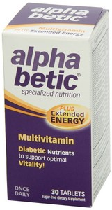 Abkit - Alpha Betic, Multivitamin, Plus Extended Energy, 30 Tablets
