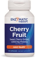 Enzymatic Therapy - Cherry Fruit Extract, Sweet Cherry Extract, Joint Health, 90 Capsules