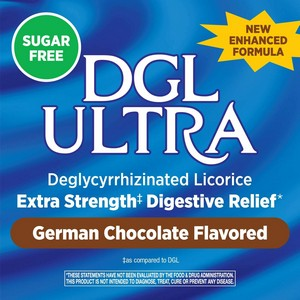 Enzymatic Therapy - DGL Ultra, Sugar Free, German Chocolate Flavor, 90 Chewable Tablets