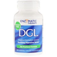 Enzymatic Therapy DGL-FF (Fructose Free/Sugarless) 100 chew tabs