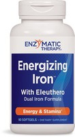 Enzymatic Therapy, Energizing Iron, with Eleuthero, 90 Softgels