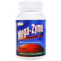 Enzymatic Therapy - Mega-Zyme, Systemic Enzymes, 200 Tablets