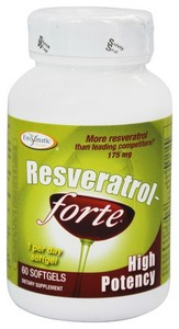 Enzymatic Therapy Resveratrol-Forte® High Potency 60 softgels