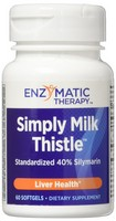 Enzymatic Therapy, Simply Milk Thistle, Liver Health, 60 Softgels