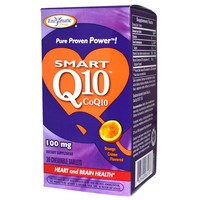 Enzymatic Therapy - Smart Q10, CoQ10, Orange Cream Flavored, 100 mg, 30 Chewable Tablets
