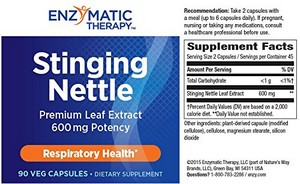 Enzymatic Therapy Stinging Nettle Leaf Extract 90 Veg Caps
