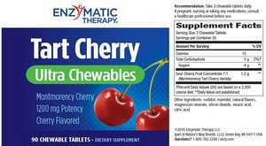 Enzymatic Therapy Tart Cherry Ultra Chewable 90 chew tabs