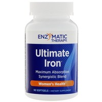 Enzymatic Therapy Ultimate Iron 90 Softgels