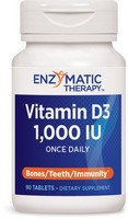 Enzymatic Therapy, Vitamin D3, Deep Immune Health, 1000 IU, 90 Tablets