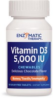 Enzymatic Therapy - Vitamin D3, Chocolate Flavor, 5,000 IU, 90 Chewable Tablets