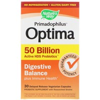 Nature's Way - Primadophilus Optima, Digestive Balance, 50 Billion, 30 Delayed Release Veggie Caps