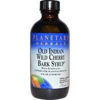 Planetary Herbals - Old Indian Wild Cherry Bark Syrup, 4 fl oz (118.28 ml)