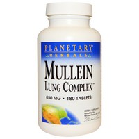 Planetary Herbals - Mullein Lung Complex, 850 mg, 180 Tablets