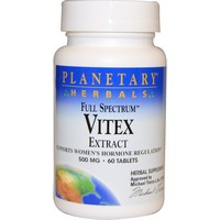 Planetary Herbals - Full Spectrum, Vitex Extract, 500 mg, 60 Tablets