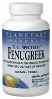 Planetary Herbals, Full Spectrum, Fenugreek, 600 mg, 120 Tablets