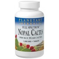 Planetary Herbals - Nopal Cactus, Full Spectrum, Prickly Pear Cactus, 1,000 mg, 120 Tablets