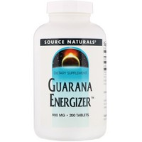 Source Naturals - Guarana Energizer, 900 mg, 200 Tablets