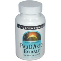 Source Naturals Pau D'Arco Extract, 500mg, 100 Tablets