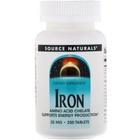 Source Naturals Iron Chelate 25mg 250 tab