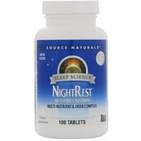 Source Naturals, NightRest, with Melatonin, 100 Tablets