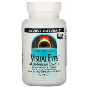 Source Naturals Visualeyes, 90 Tablets