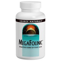 Source Naturals - MegaFolinic, 800 mcg, 120 Tablets