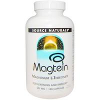 Source Naturals, Magtein, Magnesium L-Threonate, 667 mg, 180 Capsules
