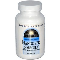 Source Naturals - Hangover Formula, Multi-Nutrient Complex, 60 Tablets