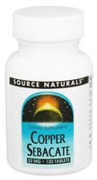 Source Naturals, Copper Sebacate, 22 mg, 120 Tablets