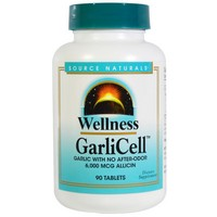 Source Naturals - Wellness, GarliCell, 90 Tablets